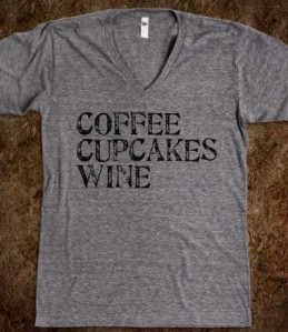 coffee cupcakes wine