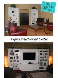 Custom Entertainment Center- The Style Files