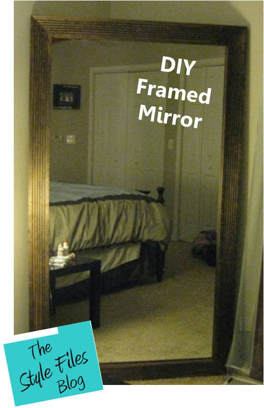 How to frame your mirror the style files diy framed mirror solutioingenieria Image collections