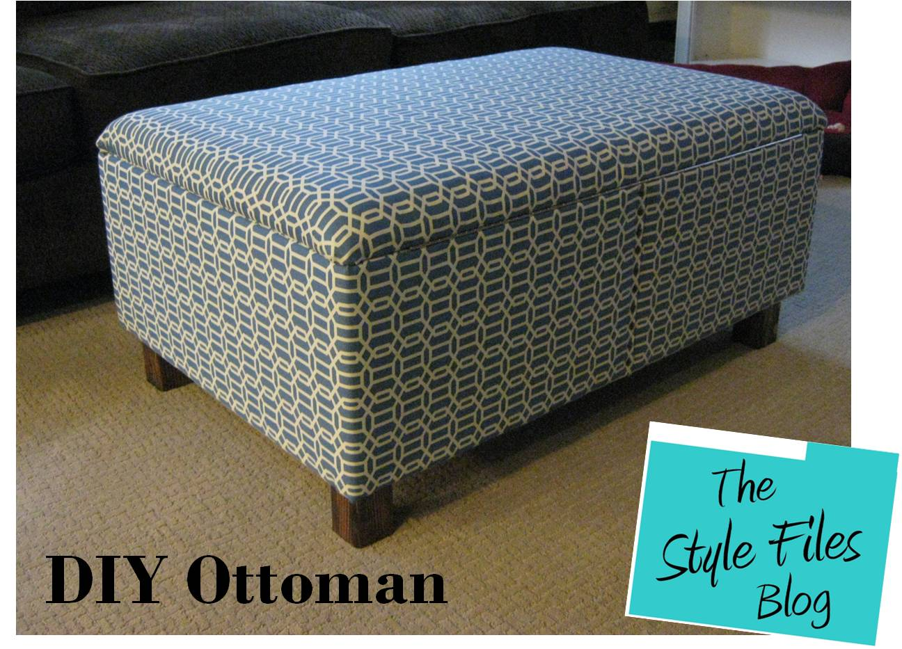 DIY Ottoman Instructions- The Style Files Blog at www.the-style-files - DIY Ottoman (Featured On Tiny House Nation!) - The Style Files