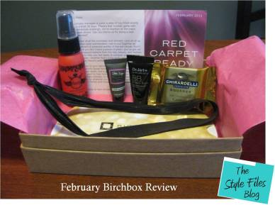 Febuary Birchbox review via The Style Files blog