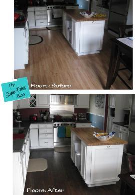 Luxury vinyl flooring via The Style Files blog