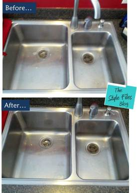 before and after- sink