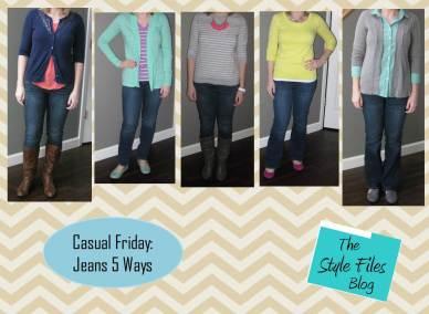 casual fri jeans- 5 ways