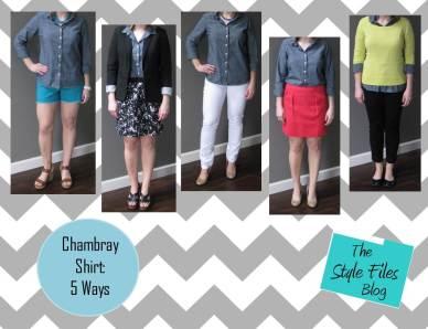 Chambray 5 Ways via the Style Files Blog
