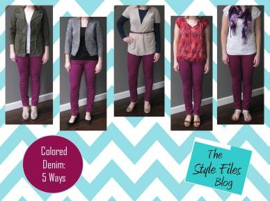 Colored denim: 5 Ways via the Style Files blog